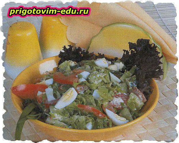 Салат «Весенний» с яйцами
