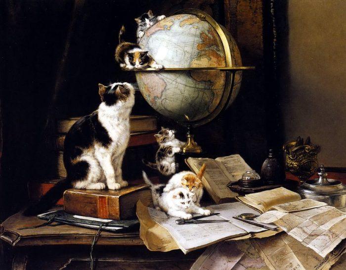 Генриетта Роннер-Книп (1821—1909) и ее милые кошечки на «консервативных» голландских картинах