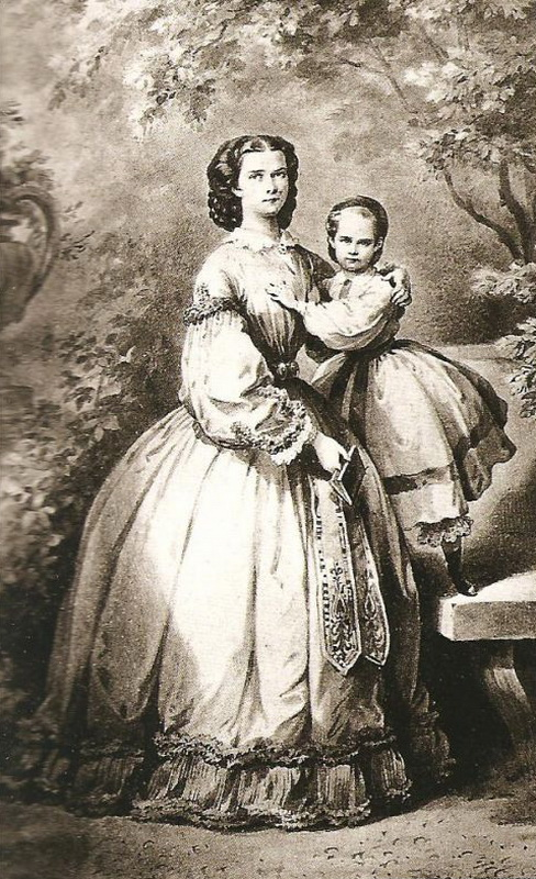 1860 Sissi and Archduchess Gisela.jpg