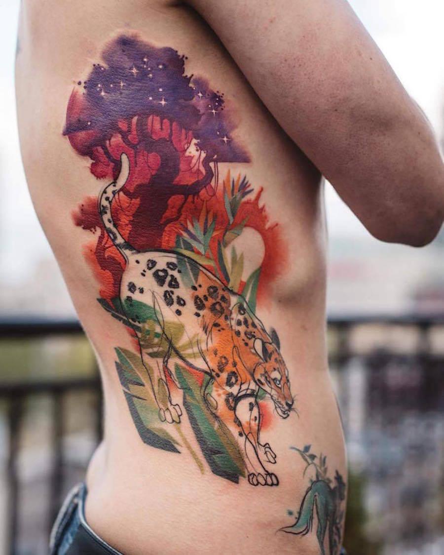 Nice Colorful Animal Tattoos