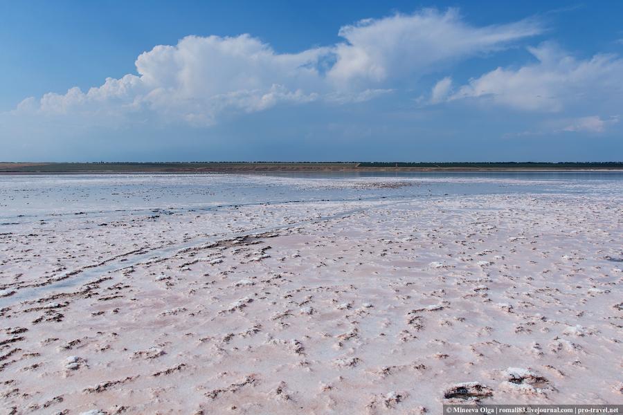 Соленое озеро в Тамани