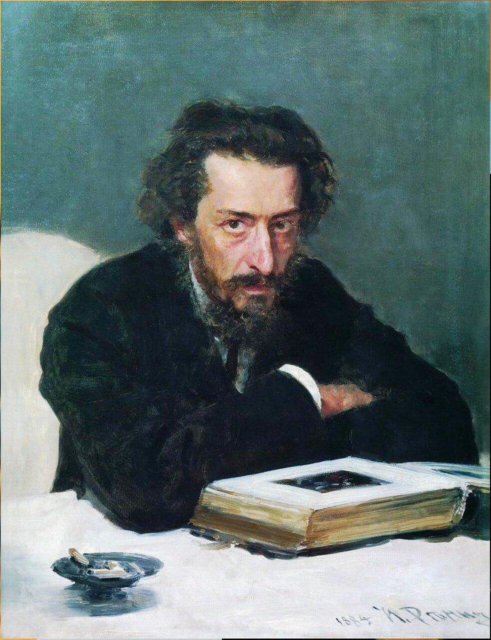 Портрет композитора П.И.Бларамберга. 1884. Русский художник Илья Ефимович Репин.jpg