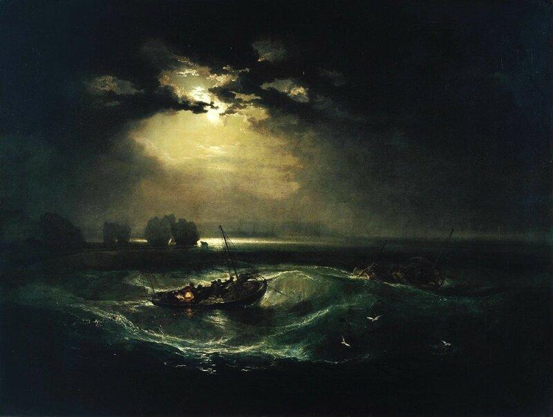 Fishermen at Sea exhibited 1796 by Joseph Mallord William Turner 1775-1851