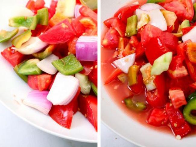 © seriouseats  Перед тем как добавить овощи , которые содержат много сока, всалат, слегка пос