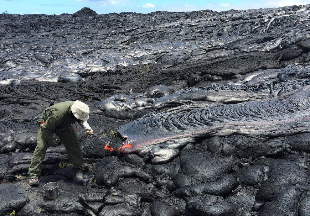 4. Иногда Скорость движения потока лавы может достигать нескольких метров в секунду. Но это не