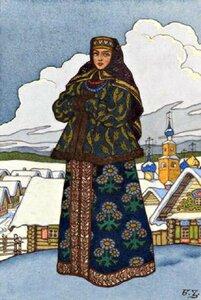 Девушка в русском костюме