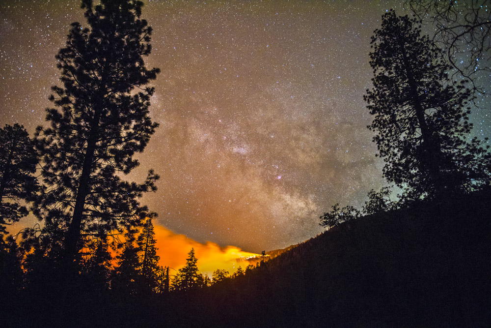 The Lake Fire burns in the San Bernardino National Forest Thursday June 18, 2015. By evening the fir