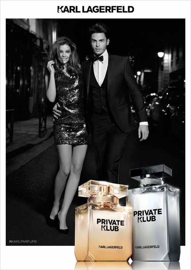 Supermodels Barbara Palvin and Baptiste Giabiconi star in 2015 campaign for Karl Lagerfeld 's