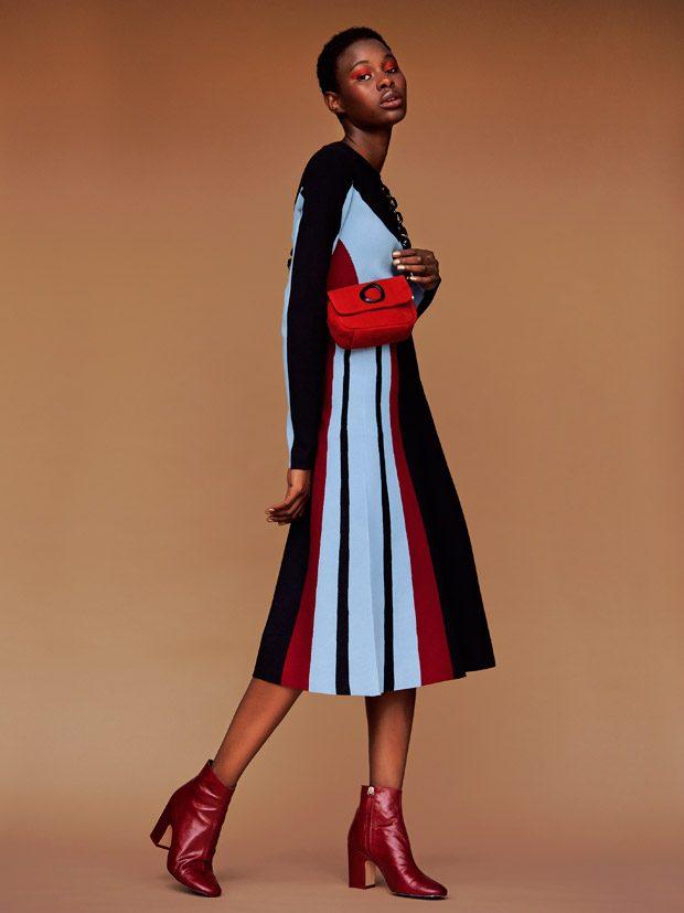 red button earrings H&M zipped cardigan Isabel Marant velvet dress Zara duster coat Topshop