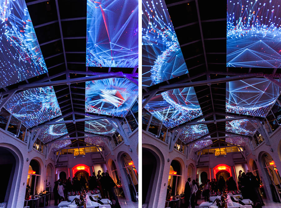 Complex Meshes Mapping Projection on a Loft's High Ceiling