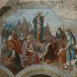 """Фреска """"Проповедь Иоанна Крестителя""""."""