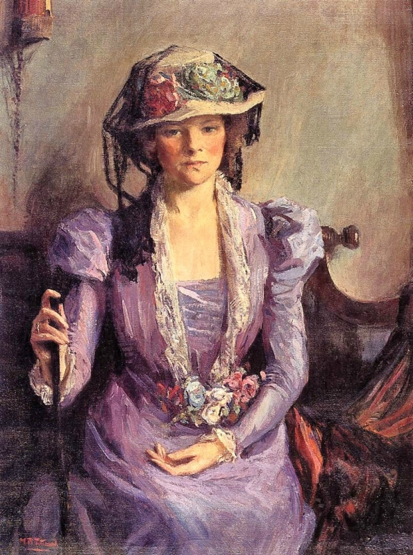 p3 Mary Bradish Titcomb (American painter, 1858-1927) The Lady in Lavender (3).jpg