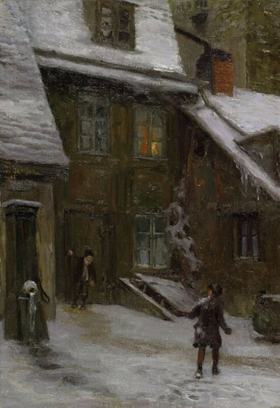 3-3 Franz Skarbina Hof im Schnee.jpg