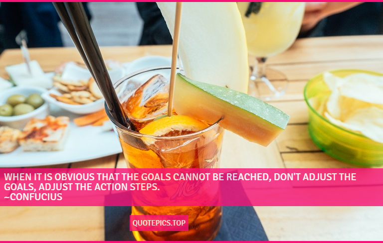 When it is obvious that the goals cannot be reached, don't adjust the goals, adjust the action steps. ~Confucius