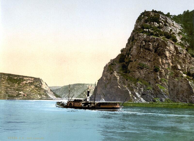 скала Лорелей, конец XIX века