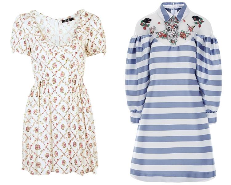 модный фасон платья 2016: платья с объемными рукавами