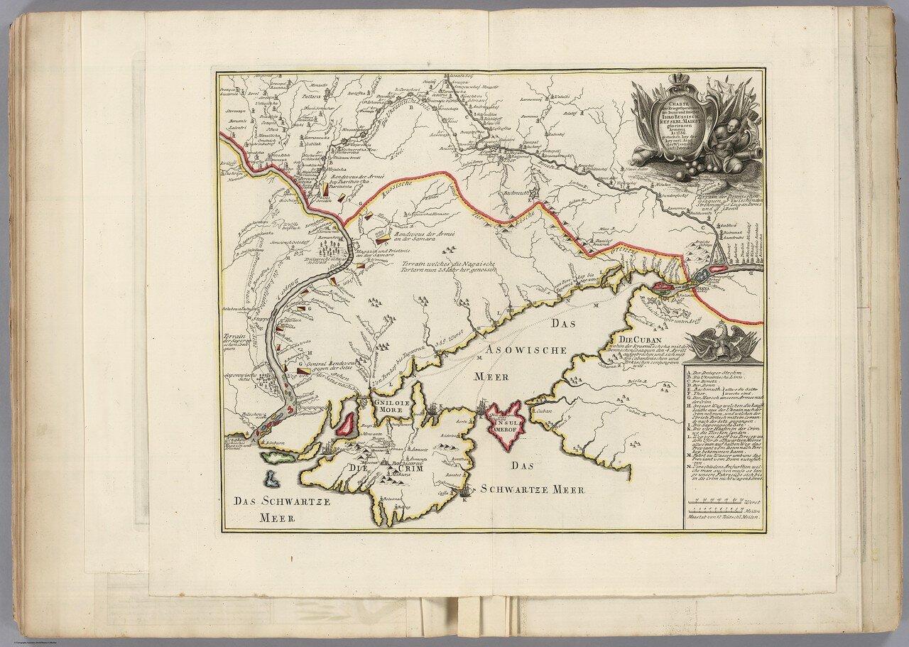 1736. Карта военных операций на Дону и Днепре