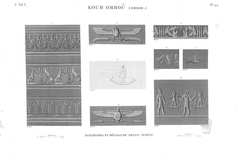 Храм в Ком-Омбо, Рельефы большого храма