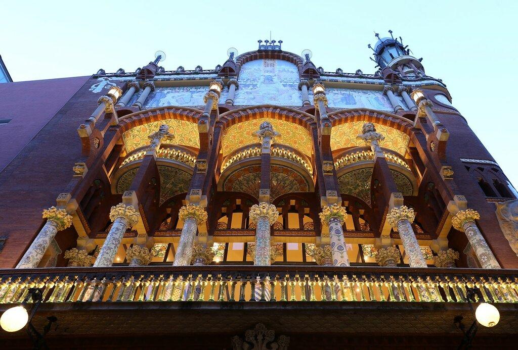 Barcelona. Palace of Catalan music