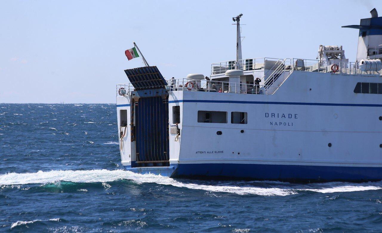 Caremar Driade ferry off the coast of the island of Ischia