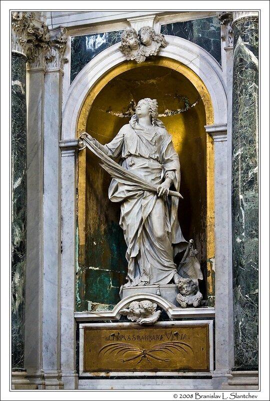 Sculpture of St. Barbara by Morlaiter.