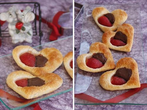 Печенье с клубникой и шоколадной пастой