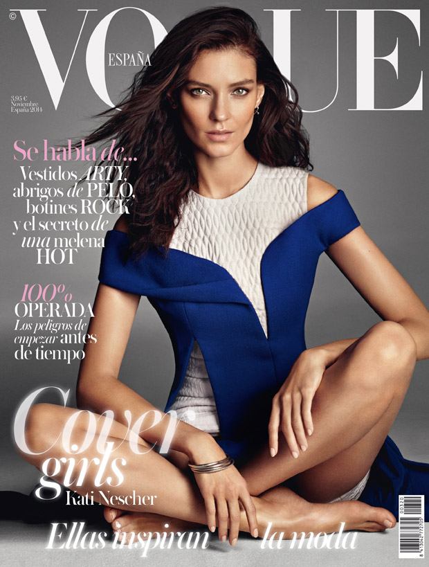 Алессандра Амбросио (Alessandra Ambrosio), Кати Нешер (Kati Nescher) и Эдита Вилкевичуте (Edita Vilkeviciute) в журнале Vogue Spain