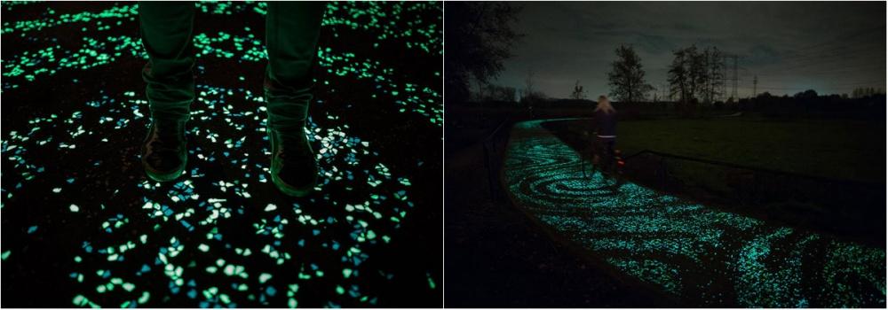 studioroosegaarde Спомощью светодиодов, работающих насолнечных батареях, голландский дизайнер Даан