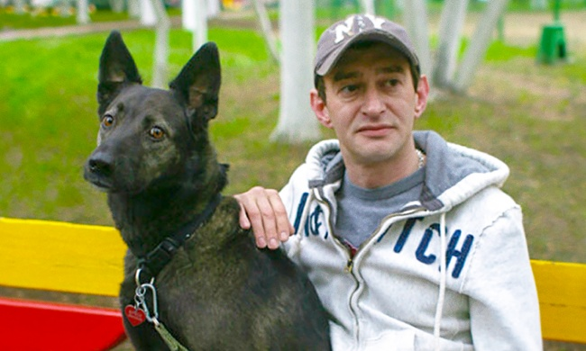 Своего беспородного пса Константин Хабенский взял изприюта грязным ибольным. Отмыл, вылечил иполю