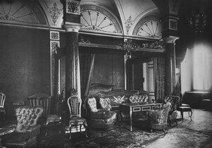Синяя спальня императрицы Марии Александровны в Зимнем дворце