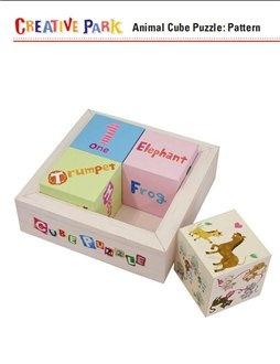 Книга Animal cube puzzle / Кубики с животными