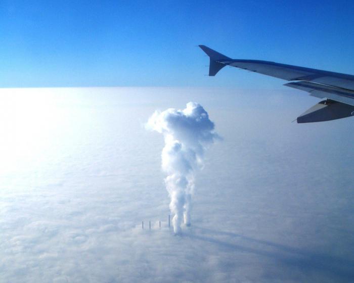Фото из самолёта