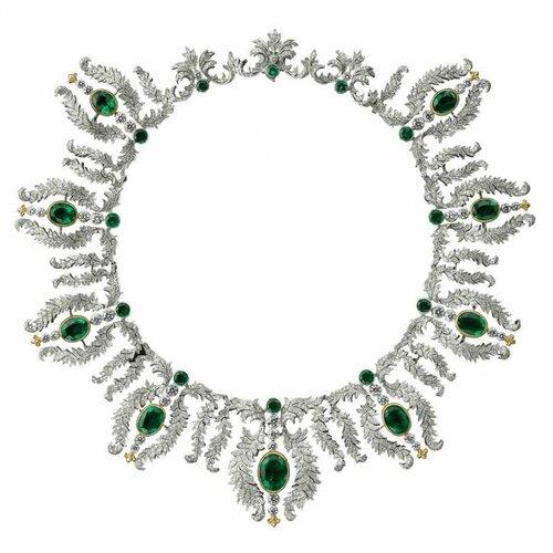 Buccellati - Emerald and diamond necklace