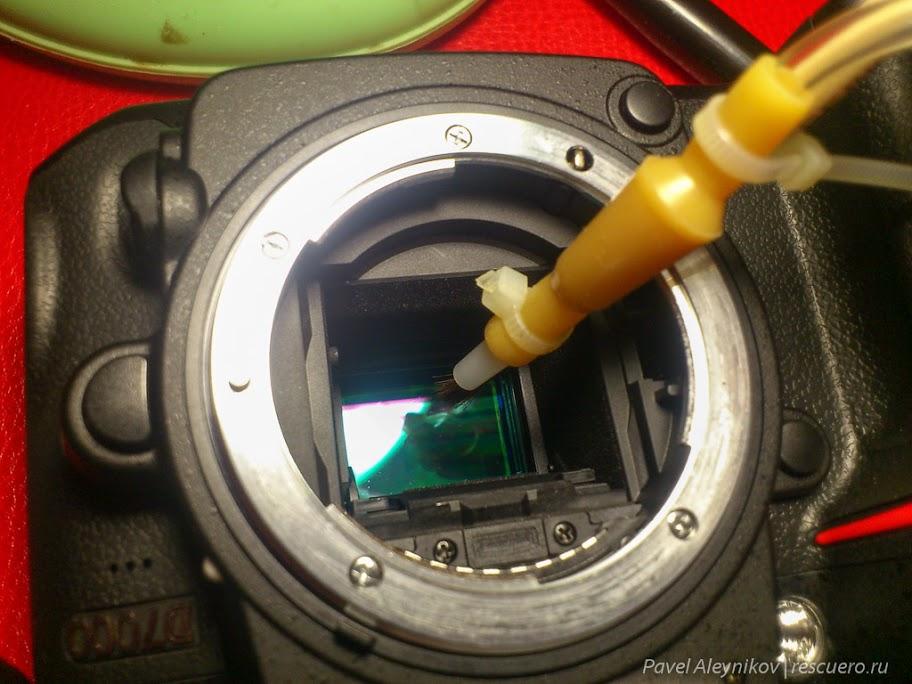 Как не нужно чистить матрицу фотокамеры