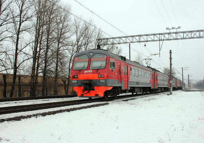 ЭД4М-0411, Перегон Кушелевка - Санкт-Петербург Финляндский