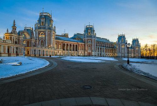 Зимний вечер в Царицыно.
