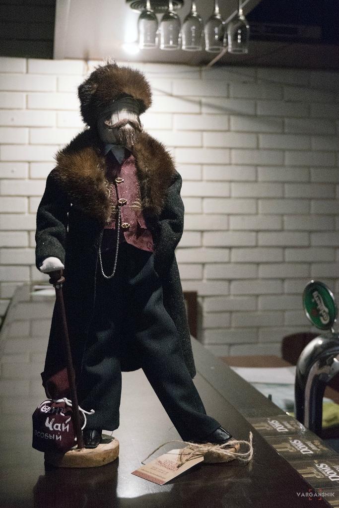Сувенирная кукла. Купец 19 век. Рост 46 см