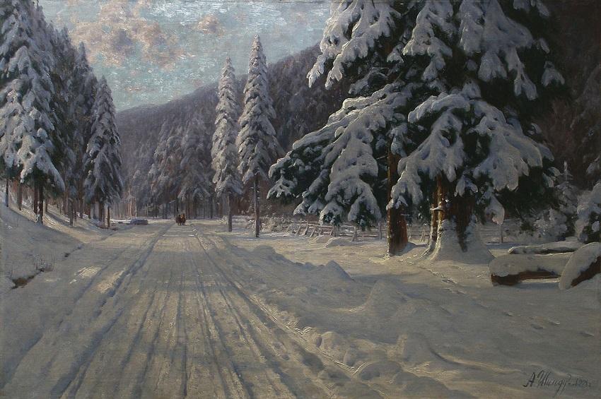 Зимняя дорога. 1904.