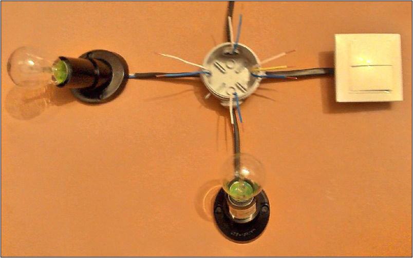 Как сделать лампочку с двумя выключателя