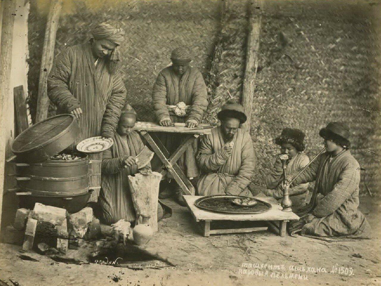 Ташкент. Чайхана. Паровые пельмени
