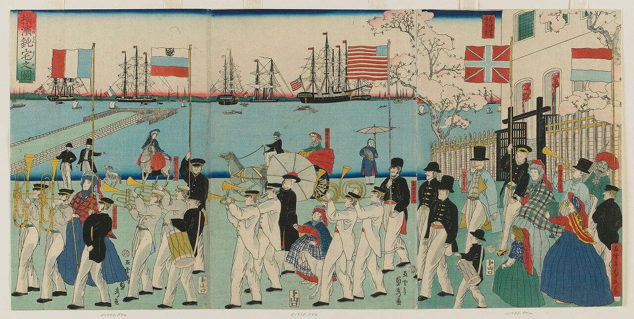 1861. Воскресный день в Йокогаме