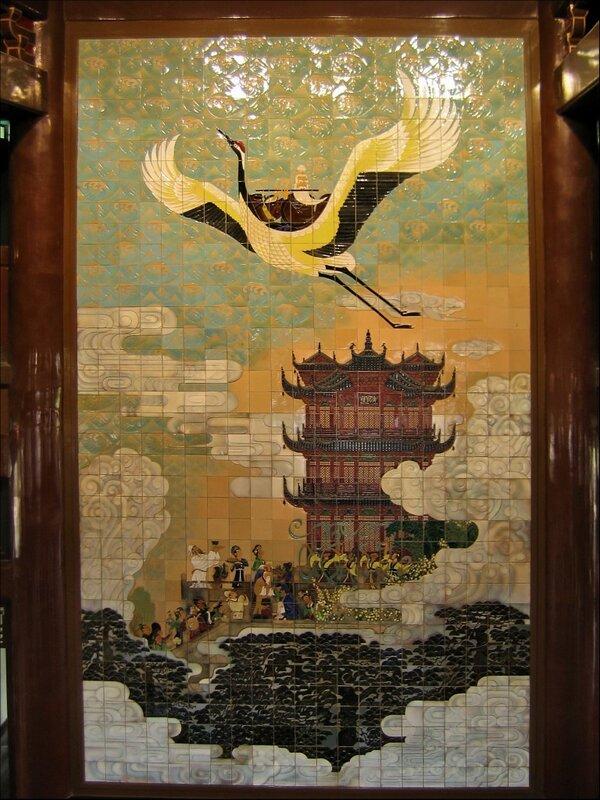 Желтый журавль, Башня Хуанхэлоу, Ухань