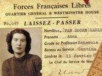 Пропуск Анны Марли 1940 год