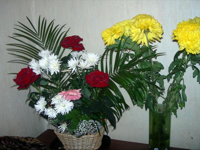 Фотография : Два букета, фотограф Апарышев, день рождения, поздравление, цветок, цветы, юбилей, фотография, фото, flows, фотки.