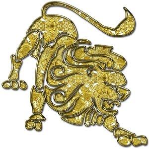 Лев - знак зодиака, рисунок, вариант № 1, Апарышев.