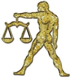 Весы - знак зодиака, рисунок, вариант № 1, Апарышев.