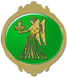 Дева - знак зодиака, рисунок, вариант № 2, Апарышев.