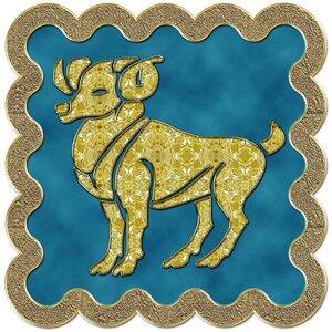Овен - знак зодиака, рисунок, вариант № 3, печать, Апарышев.