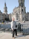 Вид на Главный католический Храм с террасы Брюля