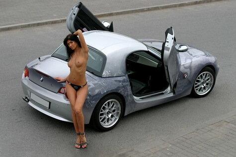 фото девушек и машин ваз голых